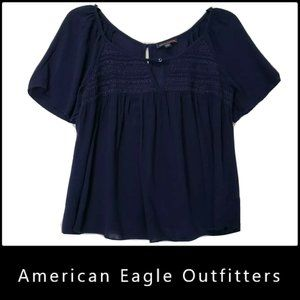 American Eagle Outfitters Short Sleeve Blouse